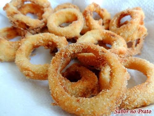 Como fazer onion rings do Burguer King. Veja receita fácil e prática.