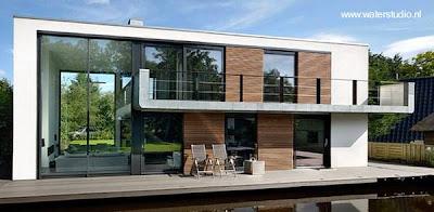 Arquitectura de casas casas modernas flotantes en europa for Casa holandesa moderna