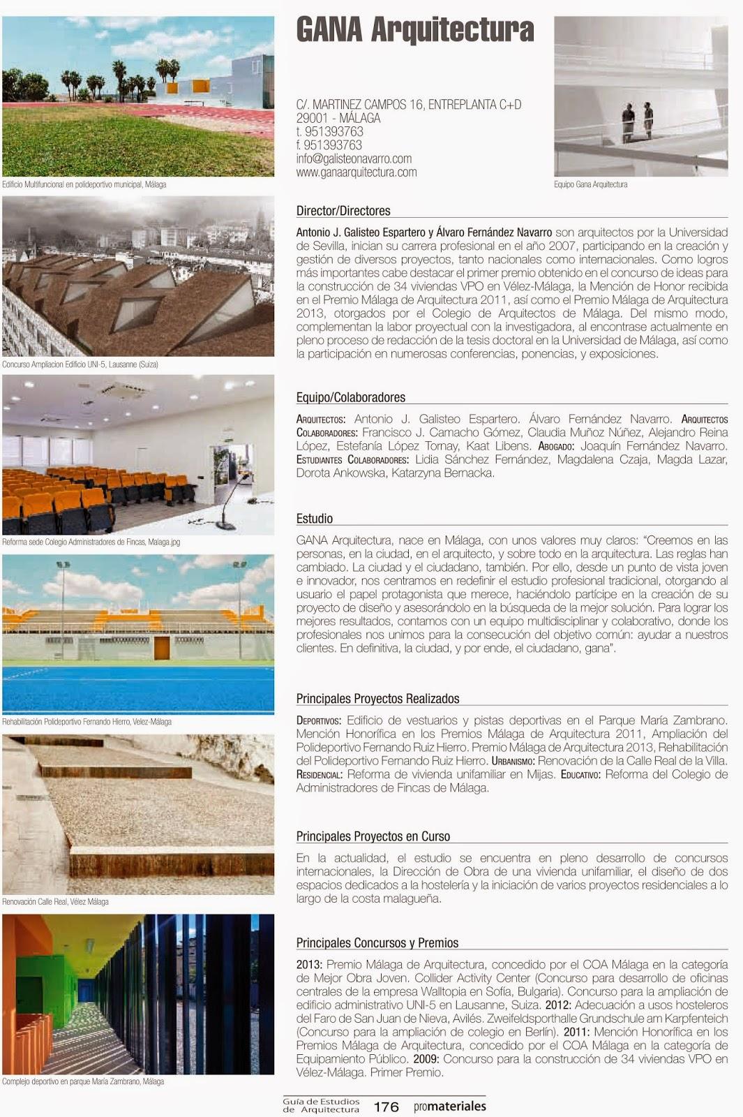 Departamento de edificaci n gana arquitectura colabora en for Practicas estudio arquitectura