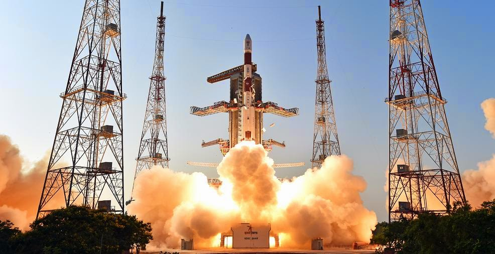 PSLV-C27 launches with IRNSS-1D satellite on Mar. 28, 2015. Credit: ISRO