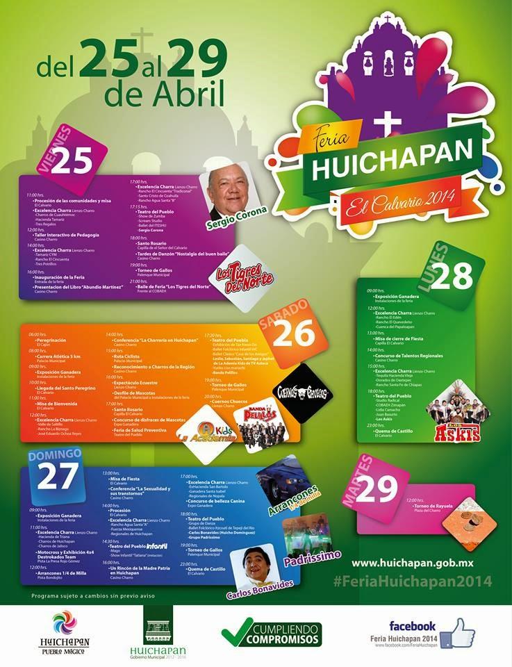 programa completo feria huichapan 2014