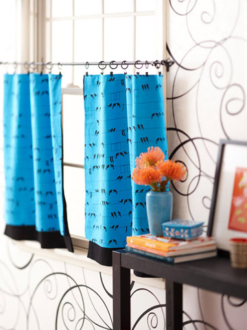 As The Curtain Hangs Fast And Easy Fabric Facelifts