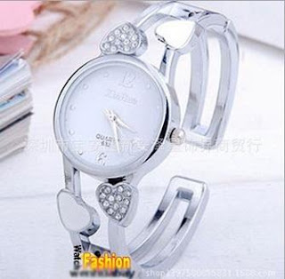 Jam Tangan Gelang DUAL HEART Model Bangle, Rp.175.000, Kode J155