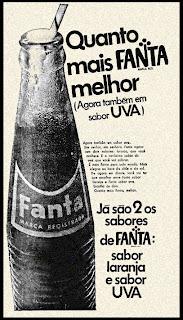 propaganda refrigetante Fanta - 1971; os anos 70; propaganda na década de 70; Brazil in the 70s, história anos 70; Oswaldo Hernandez;
