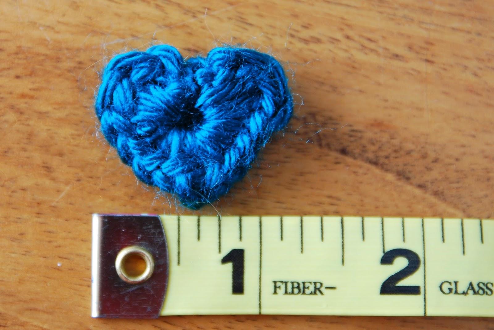 Vet School Widow: Miniature Crochet Heart Pattern