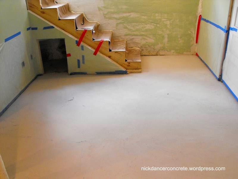 Terminación del piso de un sótano