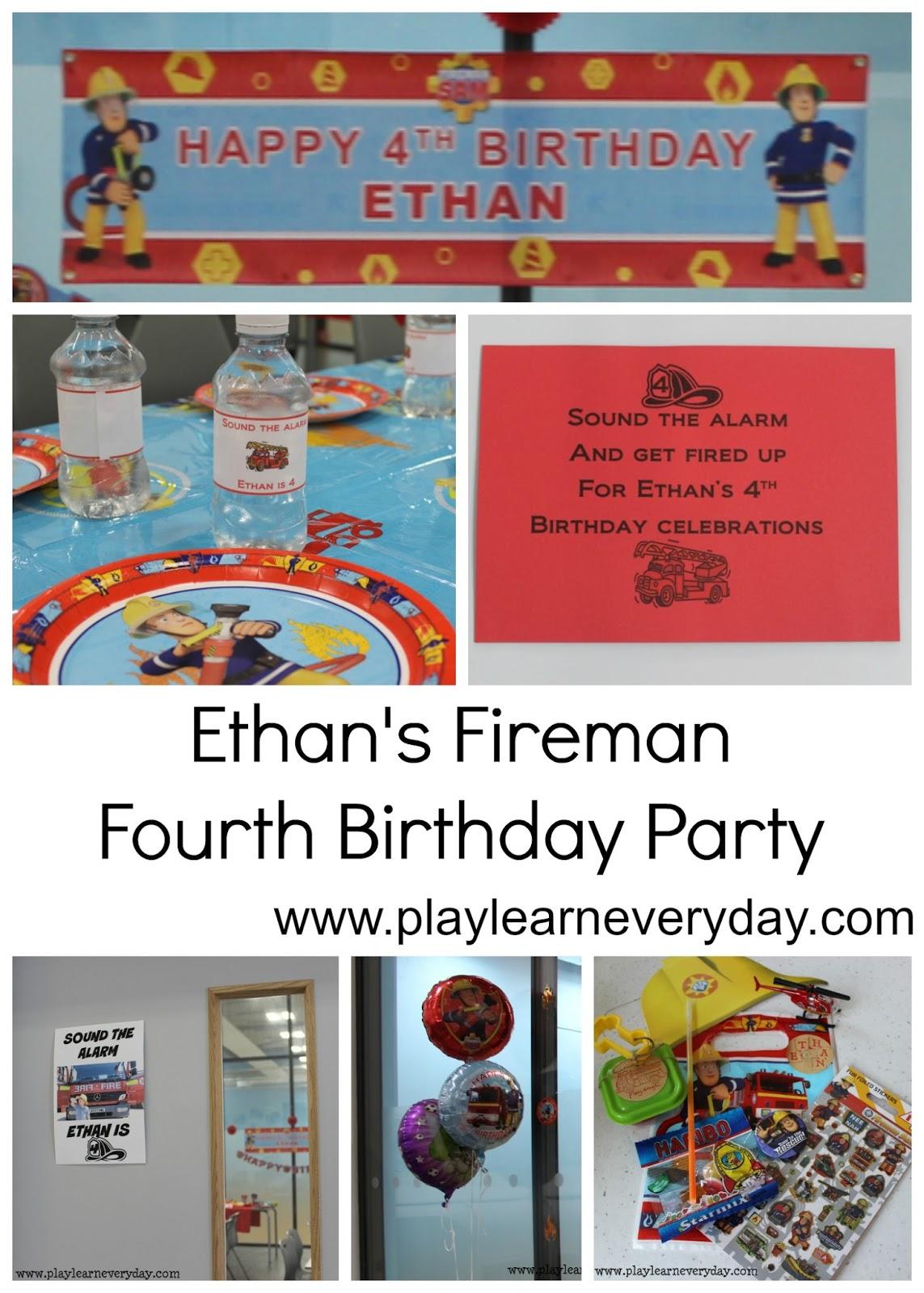 Ethans Fireman Fourth Birthday Party