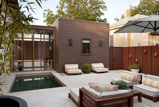 Casas minimalistas y modernas patios modernos i for Decoracion de patios modernos