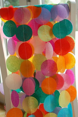 Beautiful artwork from tissue paper