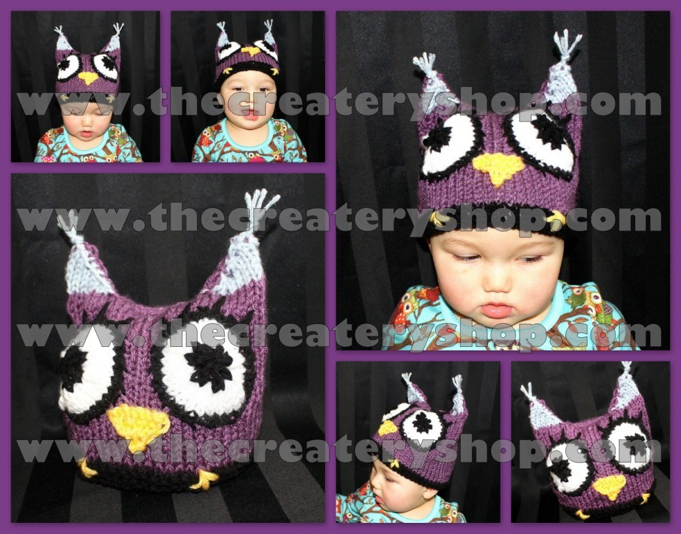 The Createry Shop Baby Owl Hat Knitting Pattern Pdf