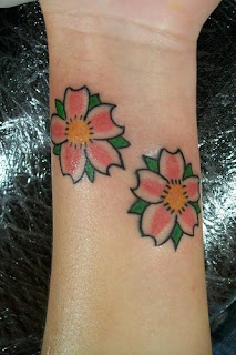 Cool Japanese Cherry Blossom Tattoo On Wrist Picture 6
