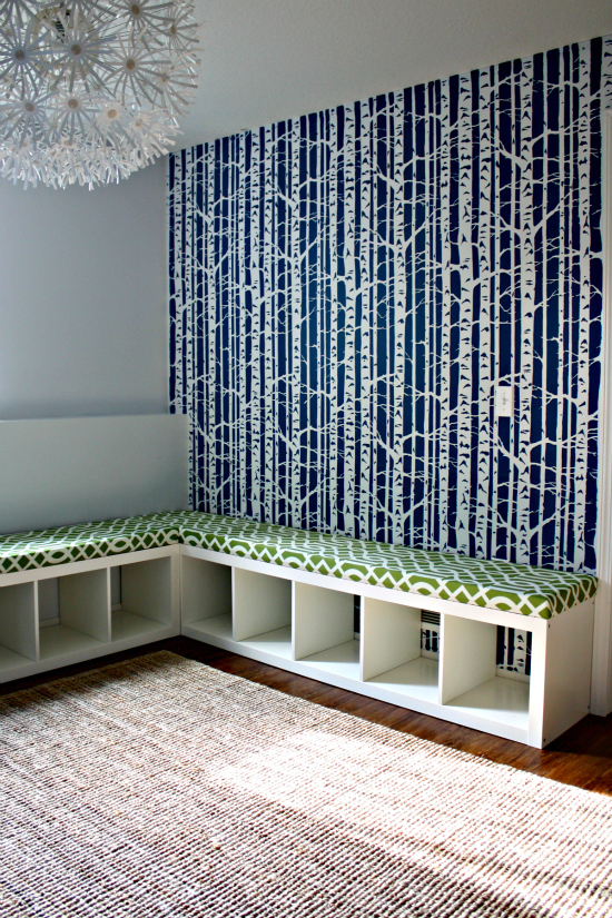 Playroom Bench . Add Color Full On Rollerskate Wheels Storage Underneath |  Projects
