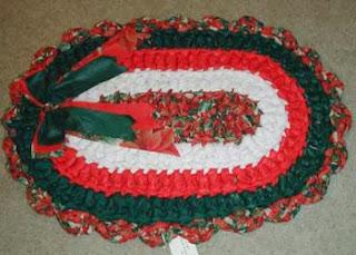 Enfeites natalinos com tapetes