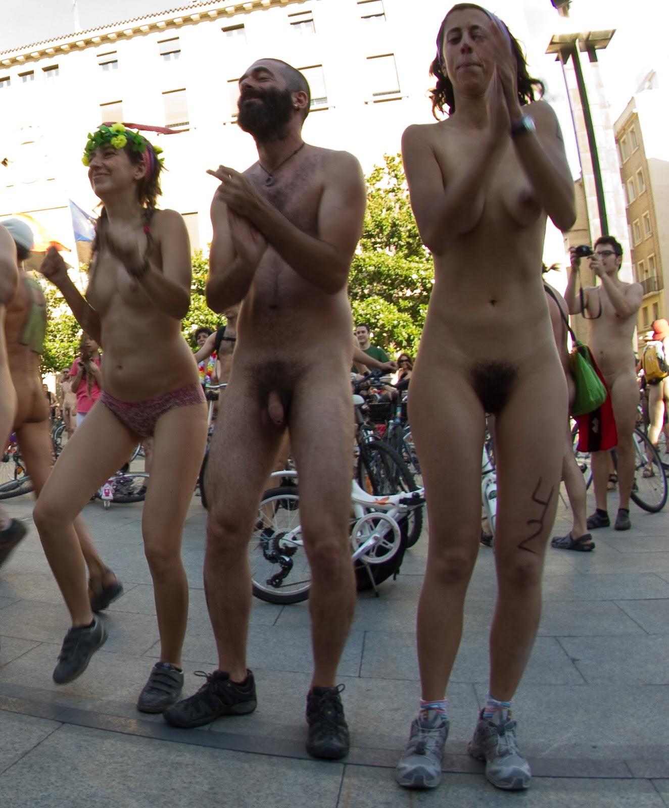 world naked bike ride 2011 zaragoza spain 2011