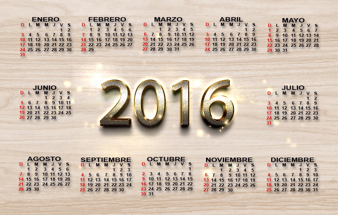 Calendario 2016, editable y de bolsillo - Calendarios 2018 ...
