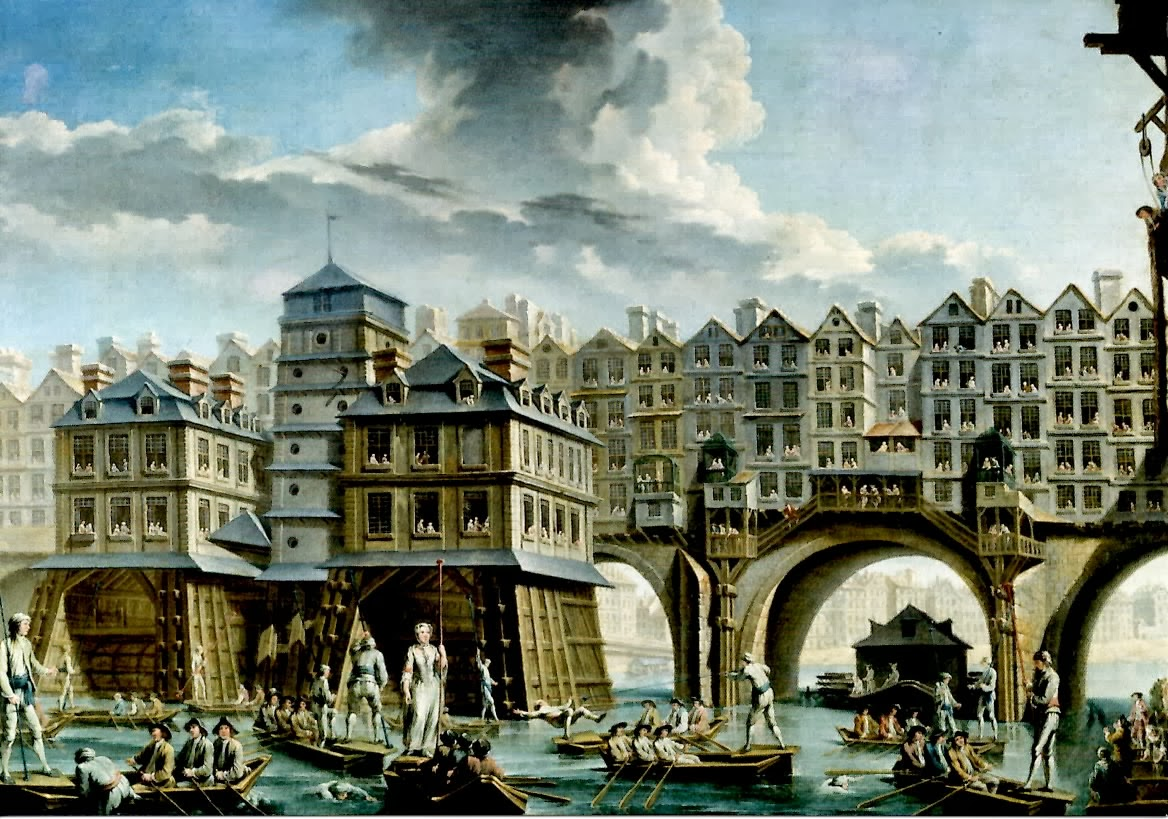 Bridges on Pont Notre Dame in 1756 AD