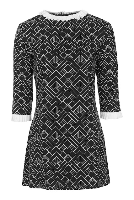 white collar black print dress, motel white collar dress,