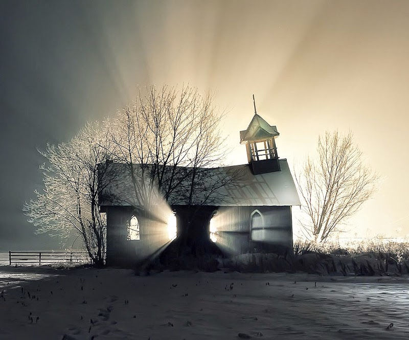 24. Abandoned Church in the Snow, Canada - 31 Haunting Images Of Abandoned Places That Will Give You Goose Bumps