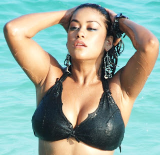 Telugu Actress black Hot in Bikini