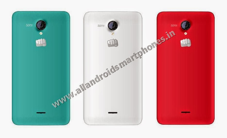 Micromax Unite 2 A106 3G Android Kitkat 4.4.2 Smartphone Back Pristine White Mystic Grey Raging Red Color Images Photos Review