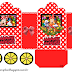 Minnie Red with Polka Dots: Princess Carriage Shaped Free Printable Boxes.