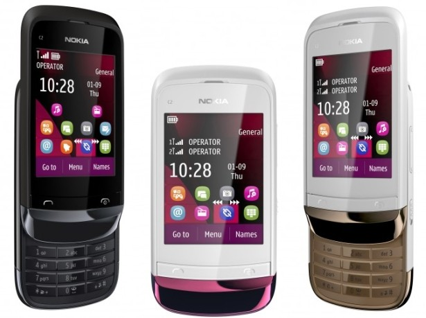 Nokia C2-03 2.6 inches Dual SIM Mobile Price in India, Features