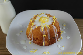 lemon, mini, bundt cake, lemon yogurt glaze