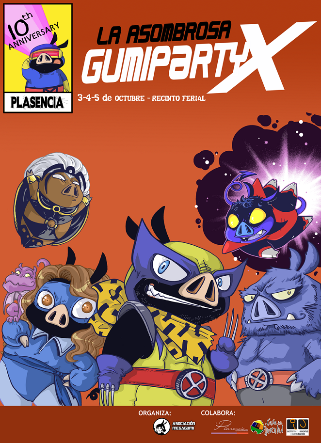Cartel promocional de la Gumiparty X edición