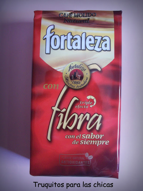 Café molido natural con fibra