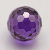 amethyst cubic zirconia beads ball