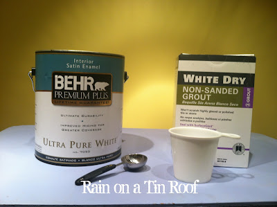 DIY Chalk Paint & Results {rainonatinroof.com} #chalkpaint #DIY