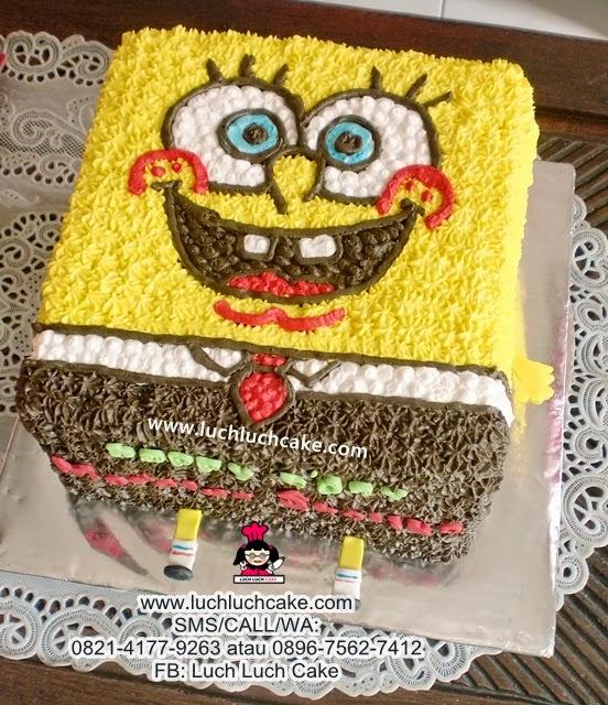 Kue Tart Spongebob 3D Buttercream Daerah Surabaya - Sidoarjo