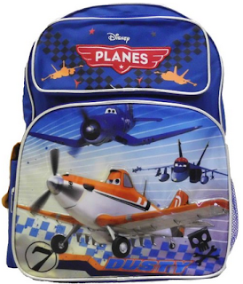 blue disney planes kids backpack