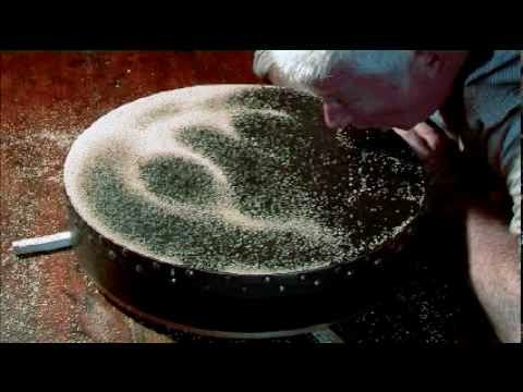 Cymatics - Human Voice Making Shapes On An Irish Bodrhan Drum