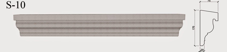 solbanc profile decorative din polistiren pentru fatade case - in partea de jos a ferestrelor