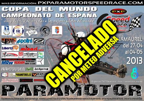 CANCELADO La PXP Speed Race y el campeonato de España quedan cancelados
