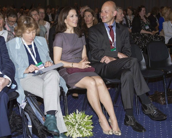Crown Princess Mary At A conference In Copenhagen
