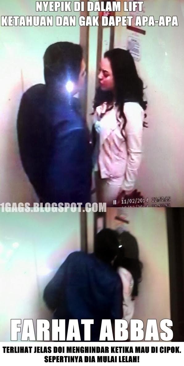 Nyepik di Dalam Lift Ketahuan #FarhatAbbasRapopo