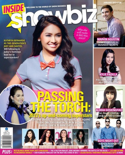 Kathryn Bernardo Covers Inside Showbiz Magazine January 2013 Issue