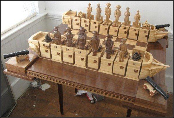 Sea Battle Chess Board 05 Pics Curious Funny Photos