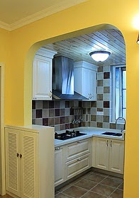 decoracion cocinas pequeas estrechas - Diseo De Cocinas Pequeas