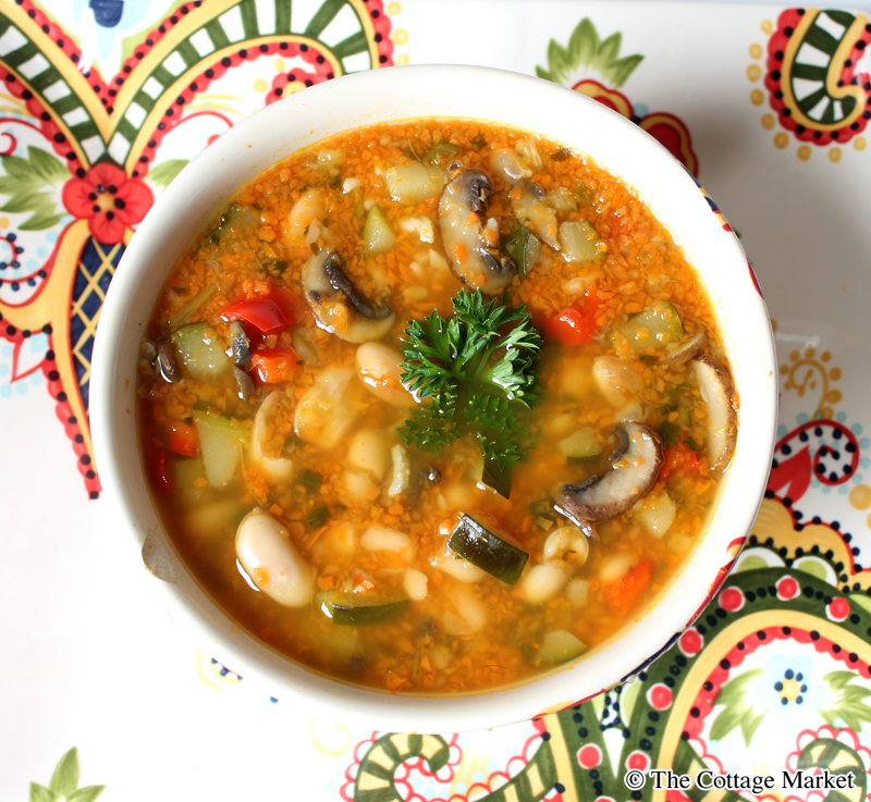 Serve this hearty ginger vegetable soup with some crackers or a slice of thick bread