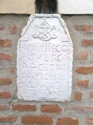 Aquí llegó Pisuerga en 4 de Febrero de 1636. Alabado sea el Santísimo Sacramento