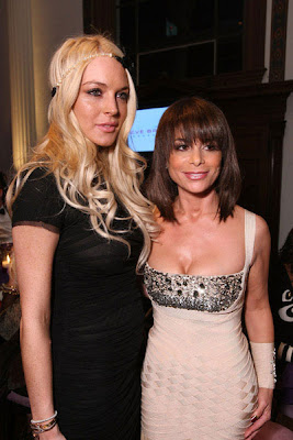 Lindsay Lohan with pal Paula Abdul