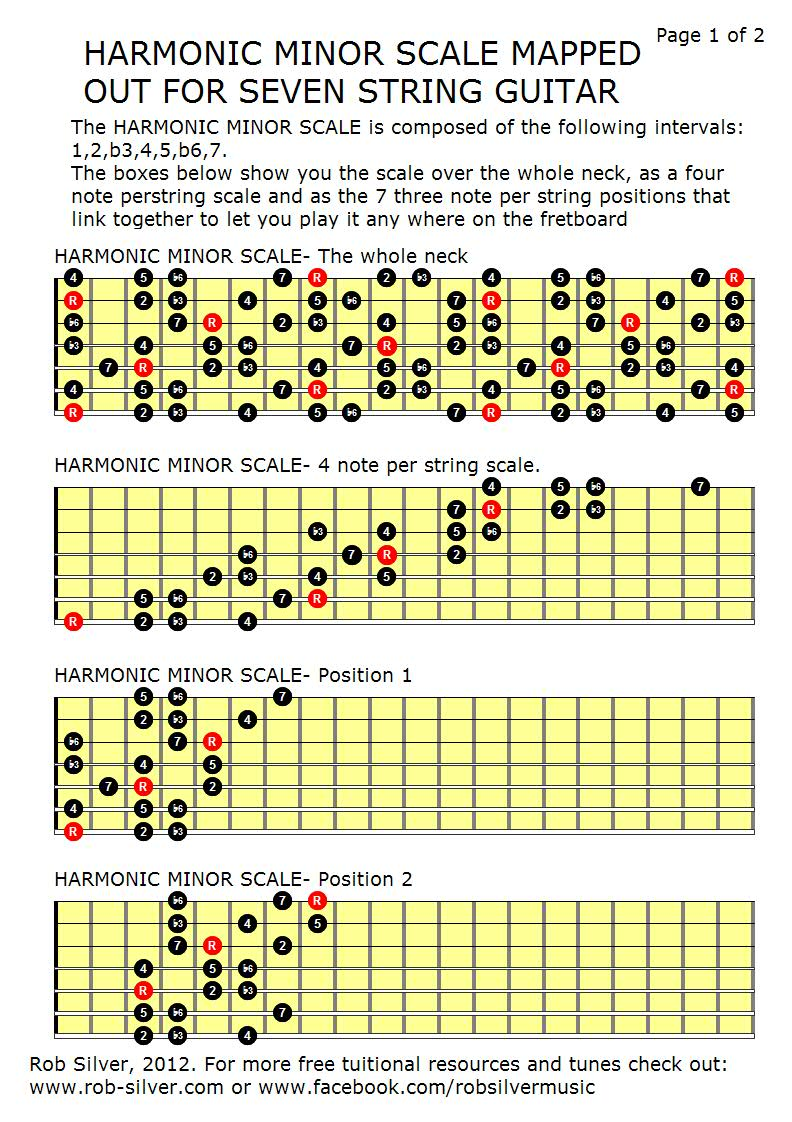 Rob Silver  Free Resources For Seven String Guitar