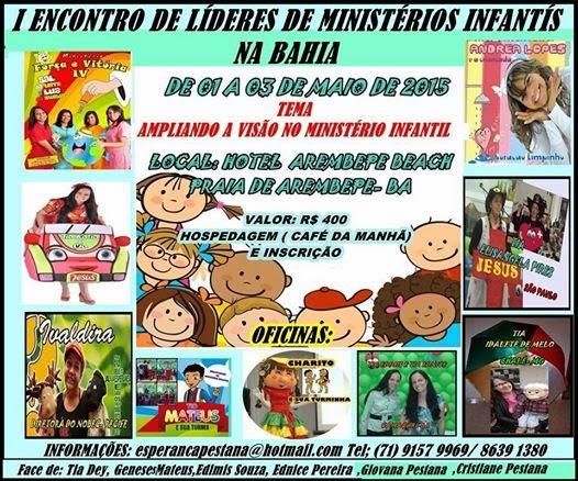 1° Encontro de Líderes de Ministério Infantil na Bahia.