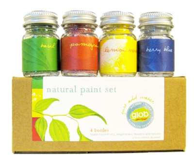 paints with colors like basil, pomegranate, and berry blue
