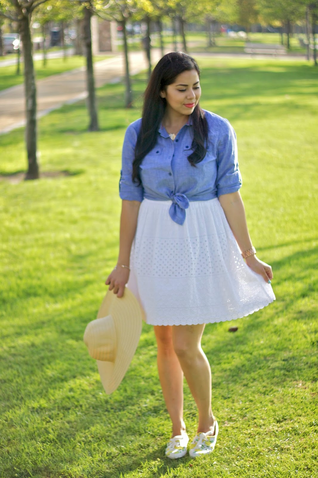 White dress with tennis shoes, white dress dressed down, affordable fashionable outfit