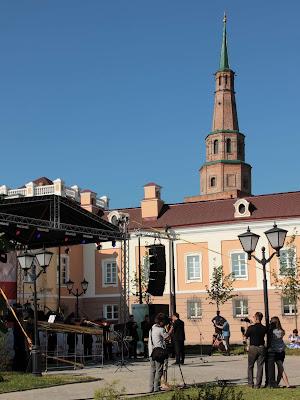 Сергей Поляниченко и Российский роговый оркестр на концерте в Казанском кремле