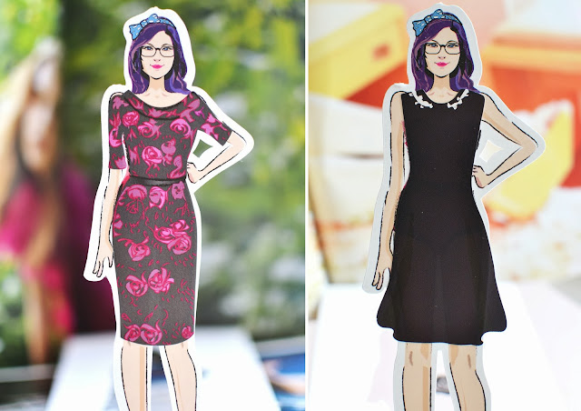 paper doll party, F&F paper dolls